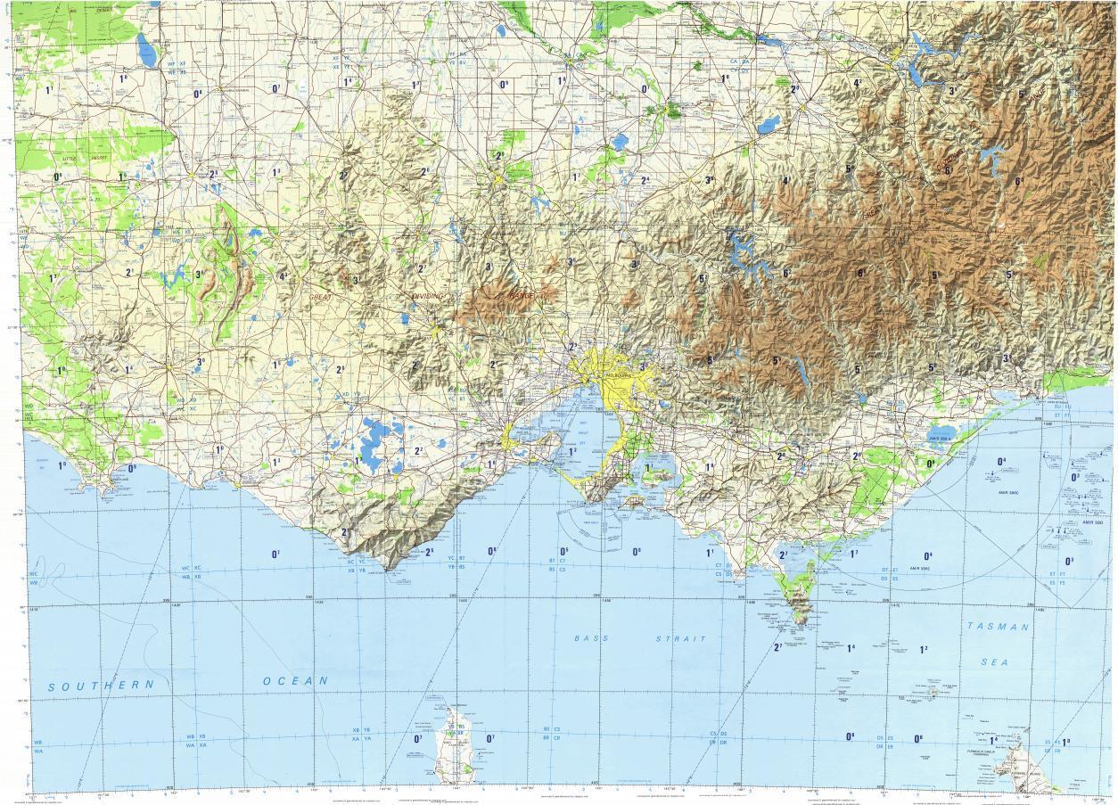 Topographic Map Melbourne Topographic Map Of Melbourne Australia