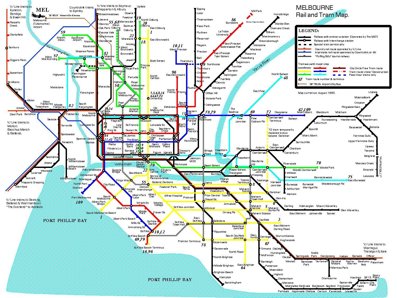 Train Map Victoria Vic Train Map Australia - Map of victoria australia